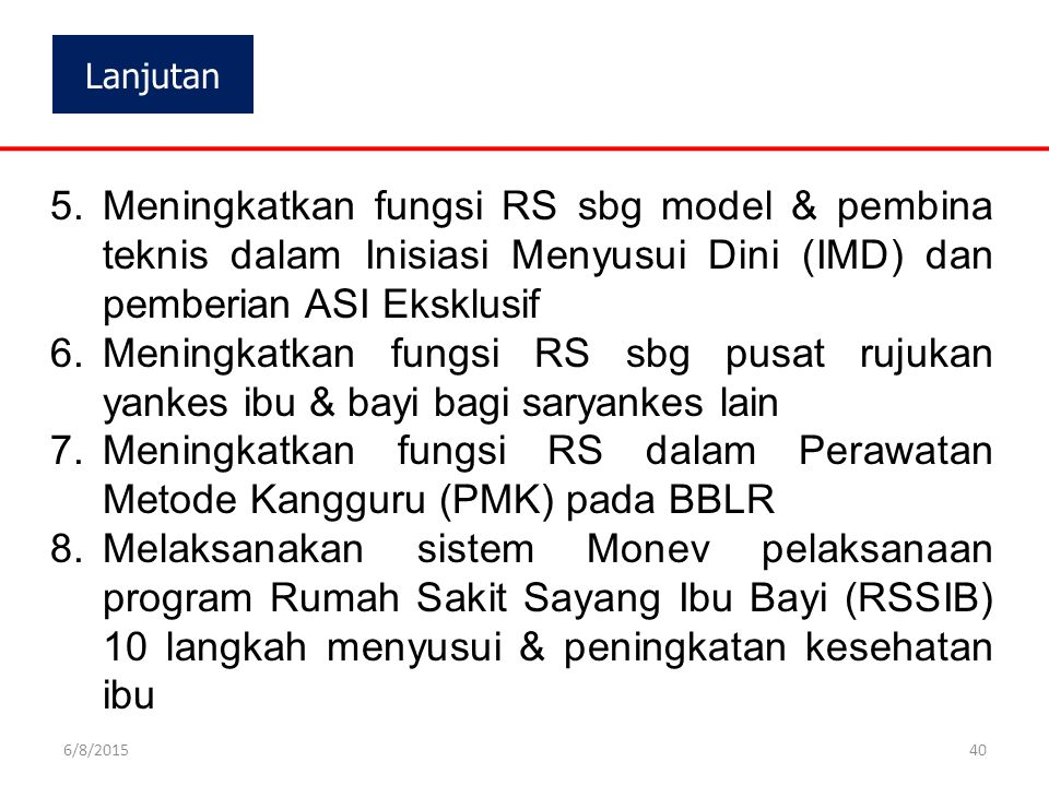 Meningkatkan fungsi RS dalam Perawatan Metode Kangguru (PMK) pada BBLR