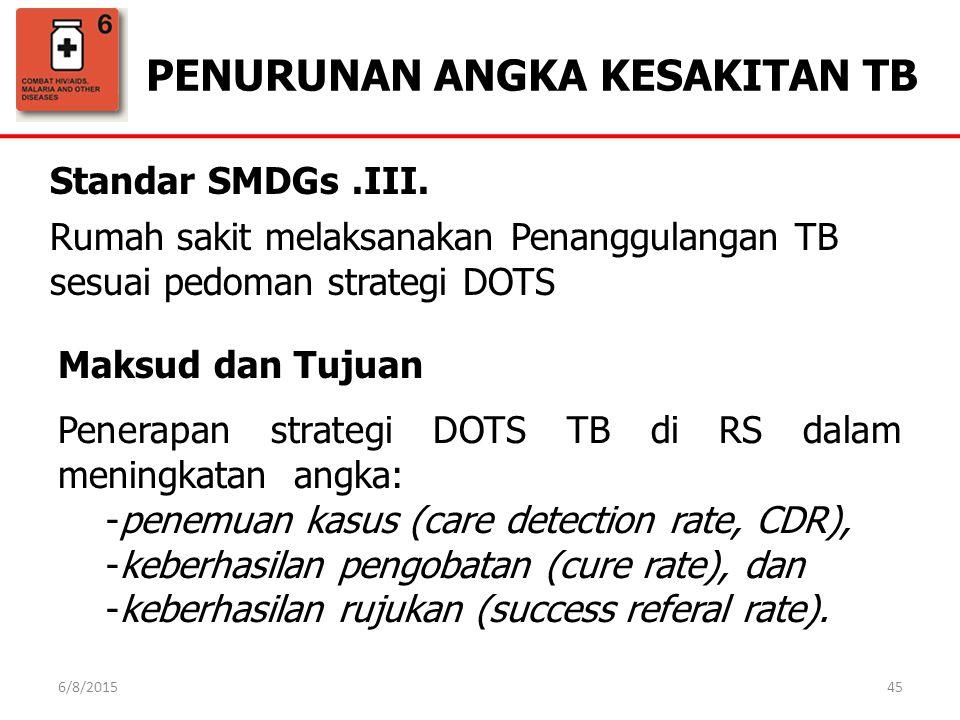 PENURUNAN ANGKA KESAKITAN TB