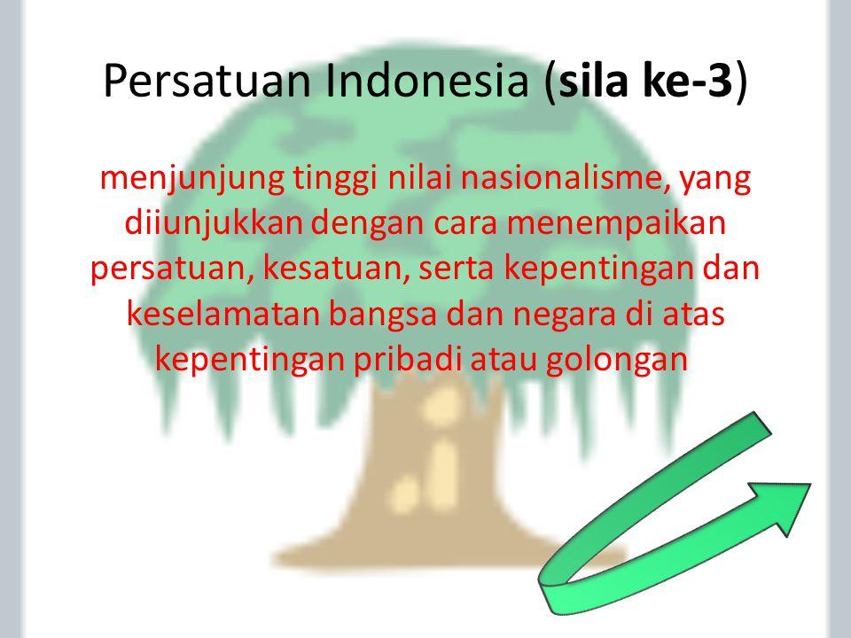 Persatuan Indonesia (sila ke-3)