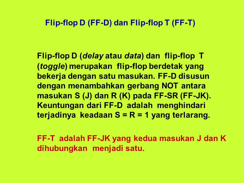 Flip-flop D (FF-D) dan Flip-flop T (FF-T)
