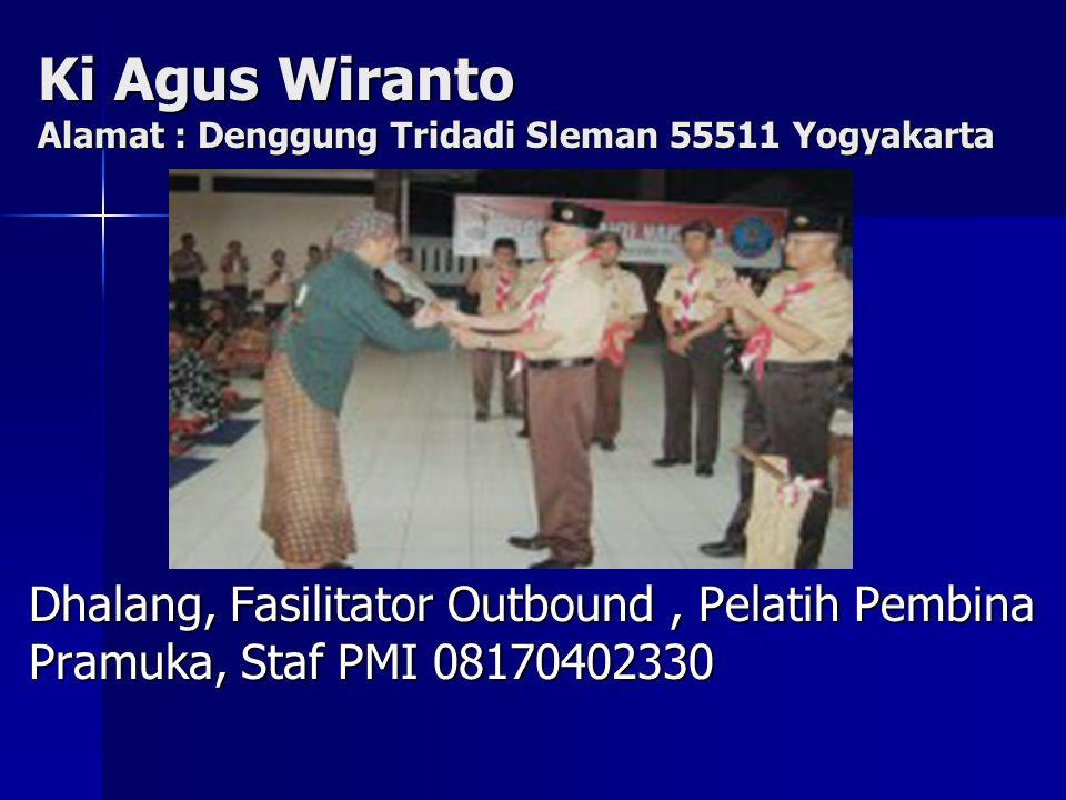 Ki Agus Wiranto Alamat : Denggung Tridadi Sleman 55511 Yogyakarta