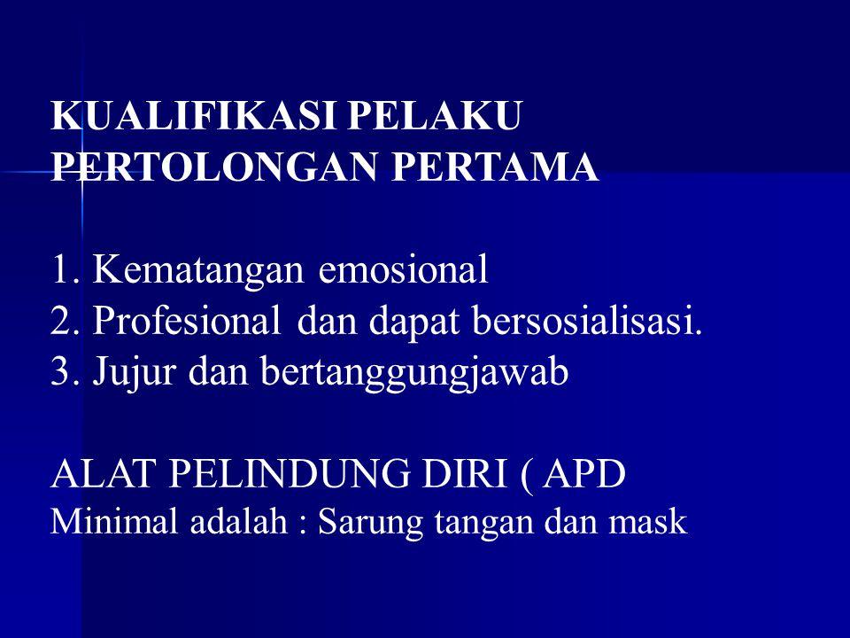 Profesional dan dapat bersosialisasi. Jujur dan bertanggungjawab