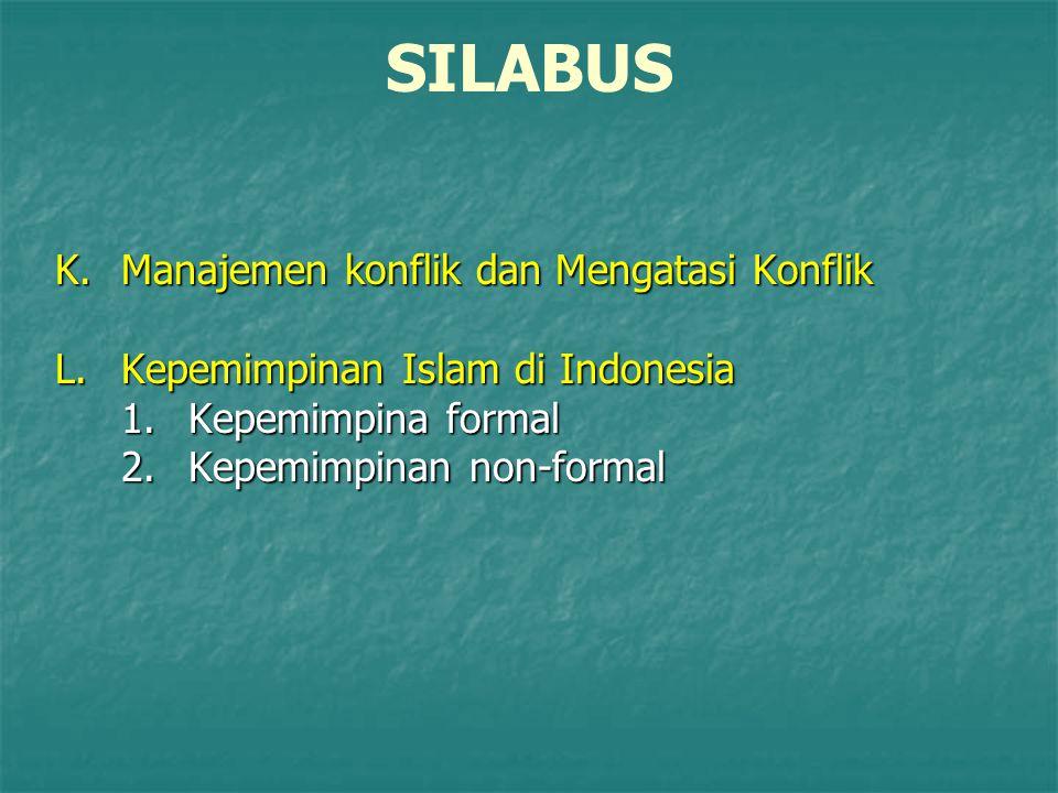 SILABUS K. Manajemen konflik dan Mengatasi Konflik L.