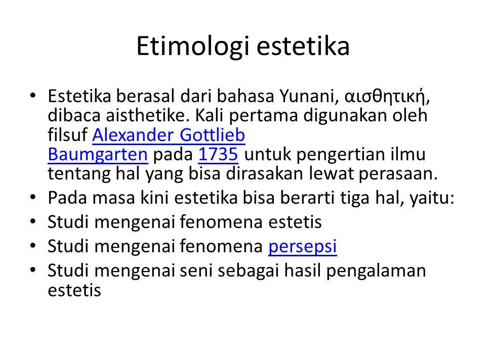 Etimologi estetika