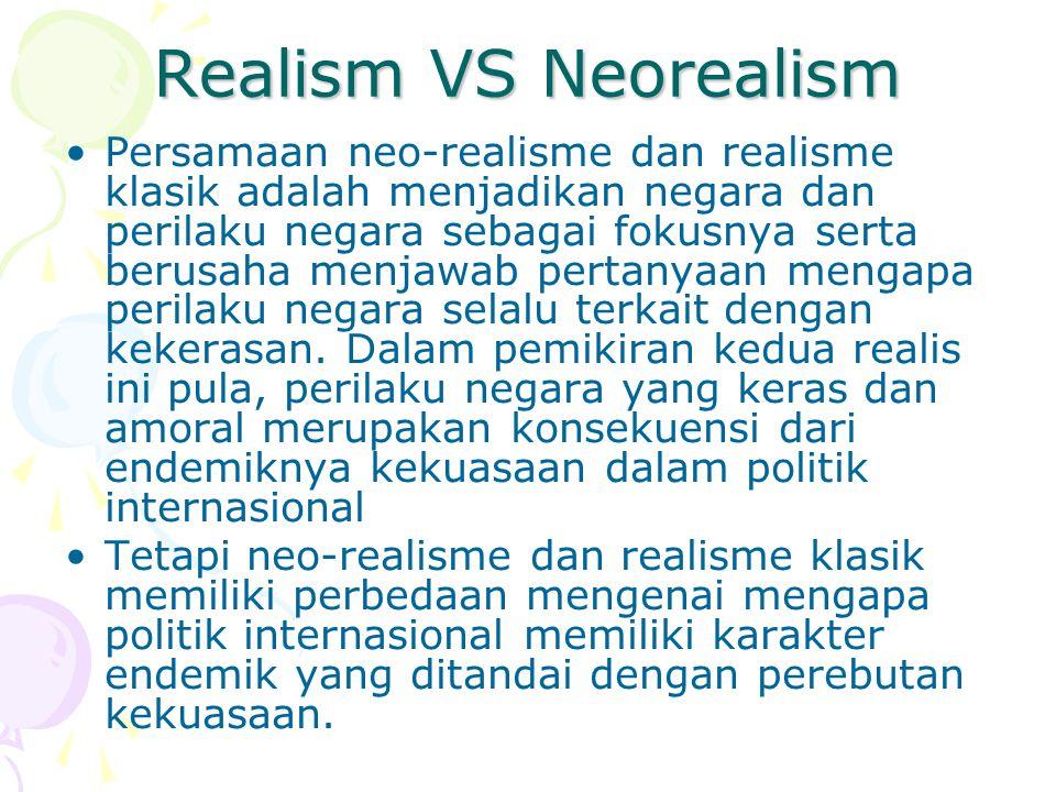 Realism VS Neorealism