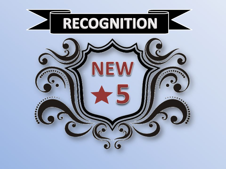 RECOGNITION NEW 5