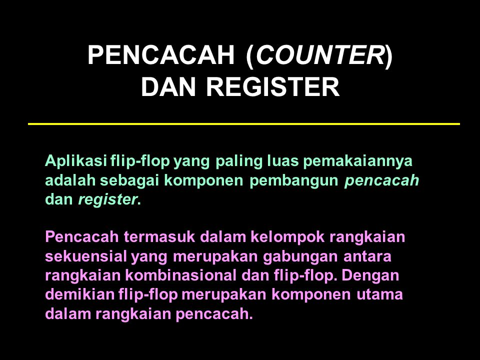 PENCACAH (COUNTER) DAN REGISTER