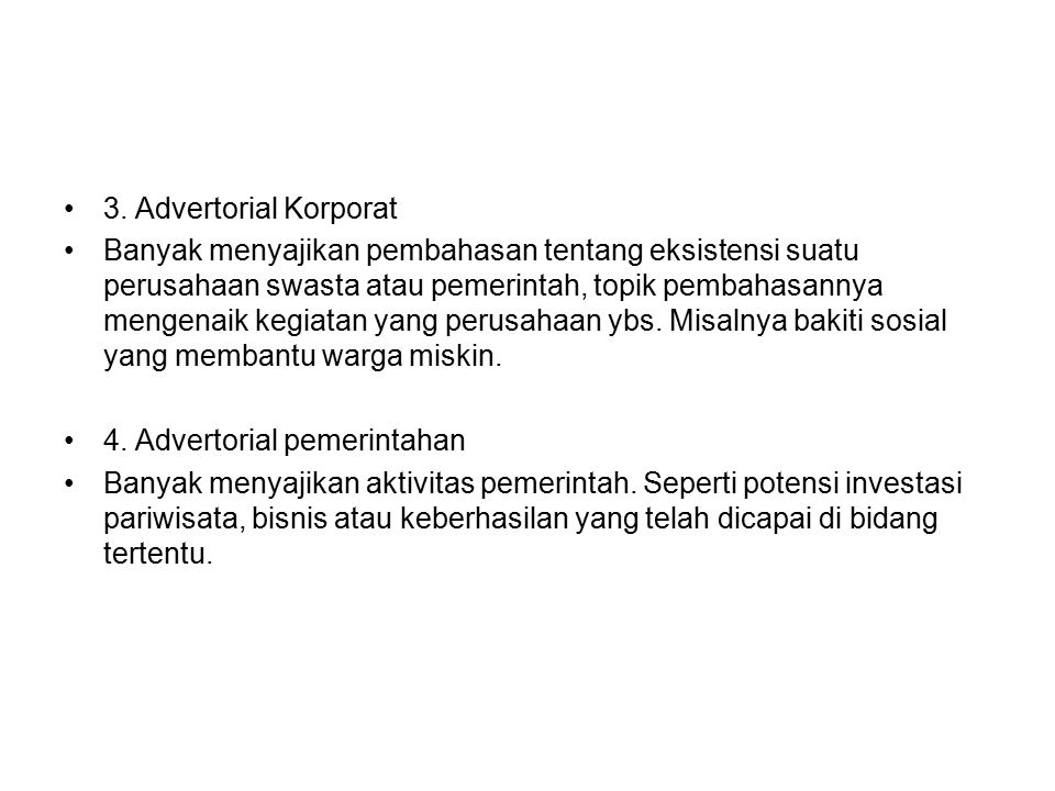 3. Advertorial Korporat