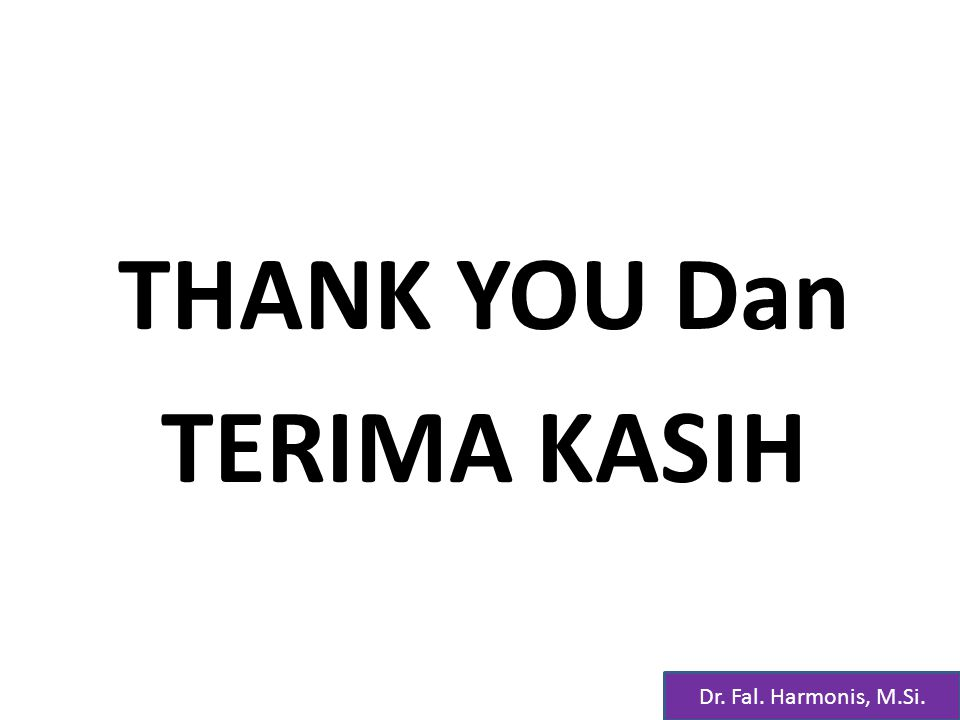 THANK YOU Dan TERIMA KASIH