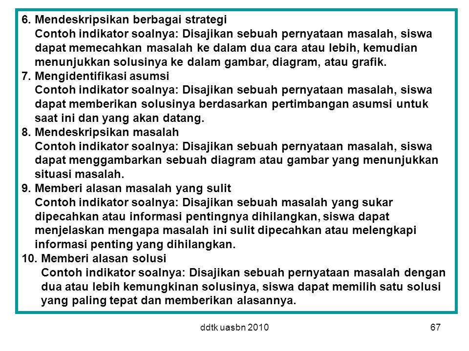 6. Mendeskripsikan berbagai strategi