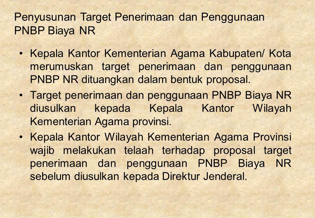 Penyusunan Target Penerimaan dan Penggunaan PNBP Biaya NR