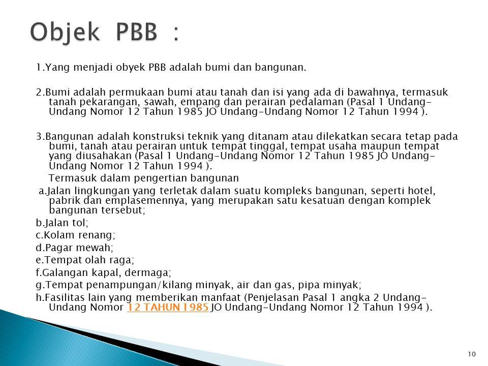 Objek PBB :