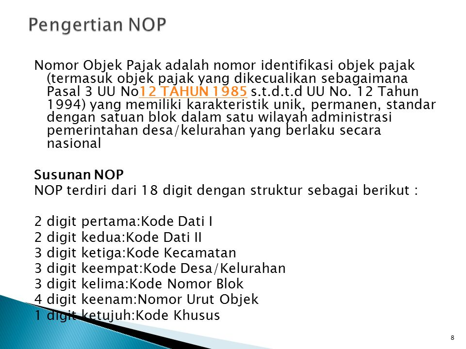 Pengertian NOP
