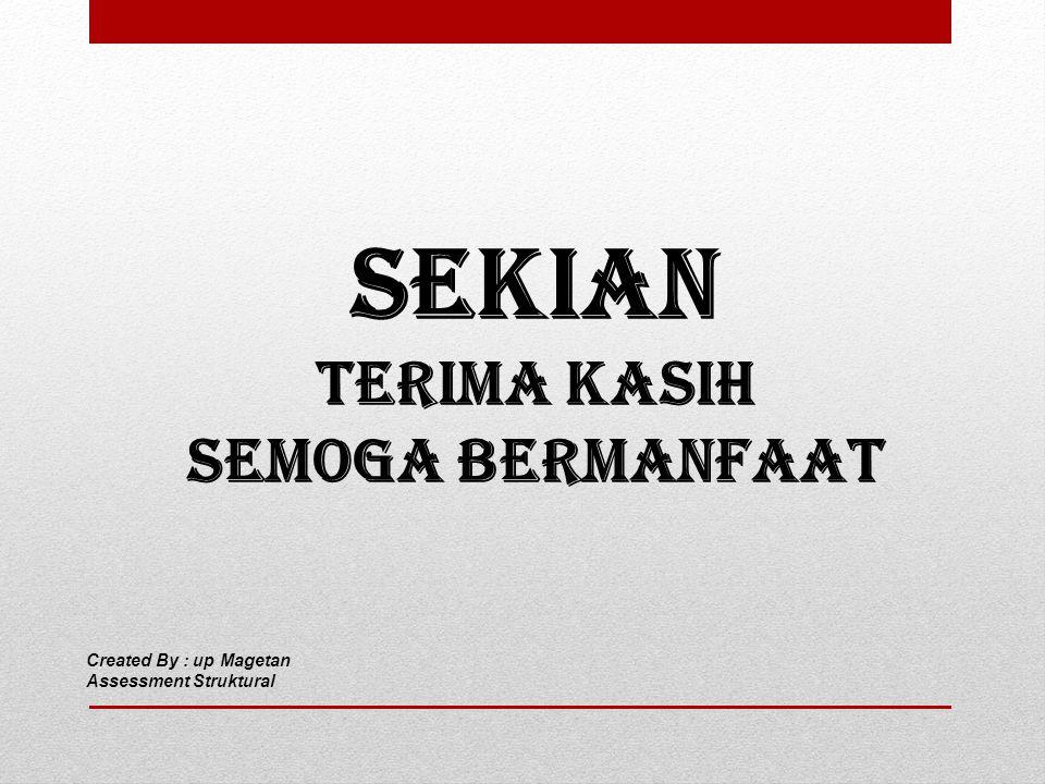 SEKIAN TERIMA KASIH SEMOGA BERMANFAAT Created By : up Magetan