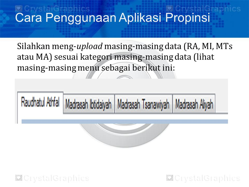 Cara Penggunaan Aplikasi Propinsi