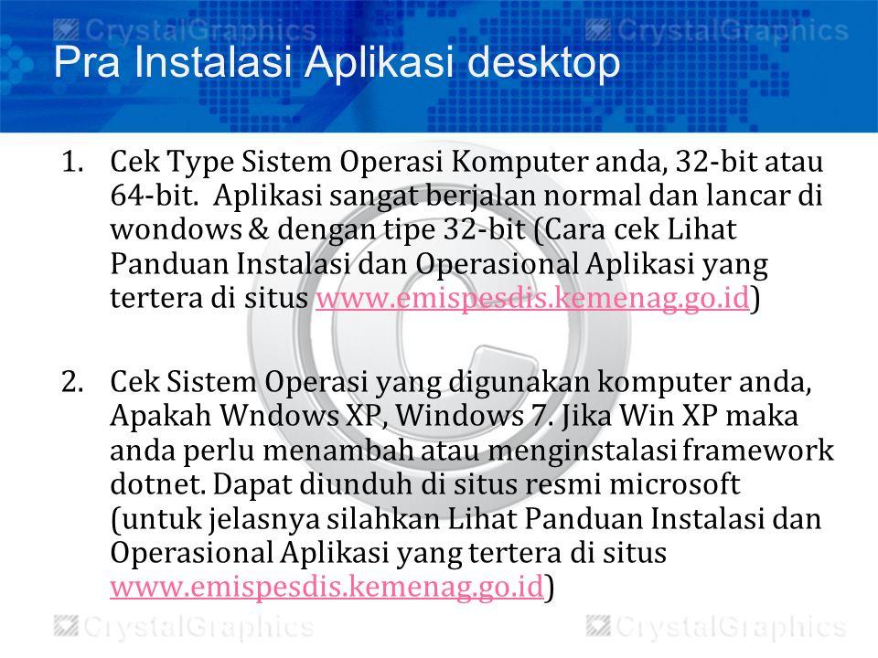 Pra Instalasi Aplikasi desktop
