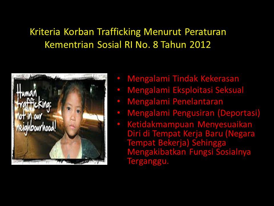Kriteria Korban Trafficking Menurut Peraturan Kementrian Sosial RI No