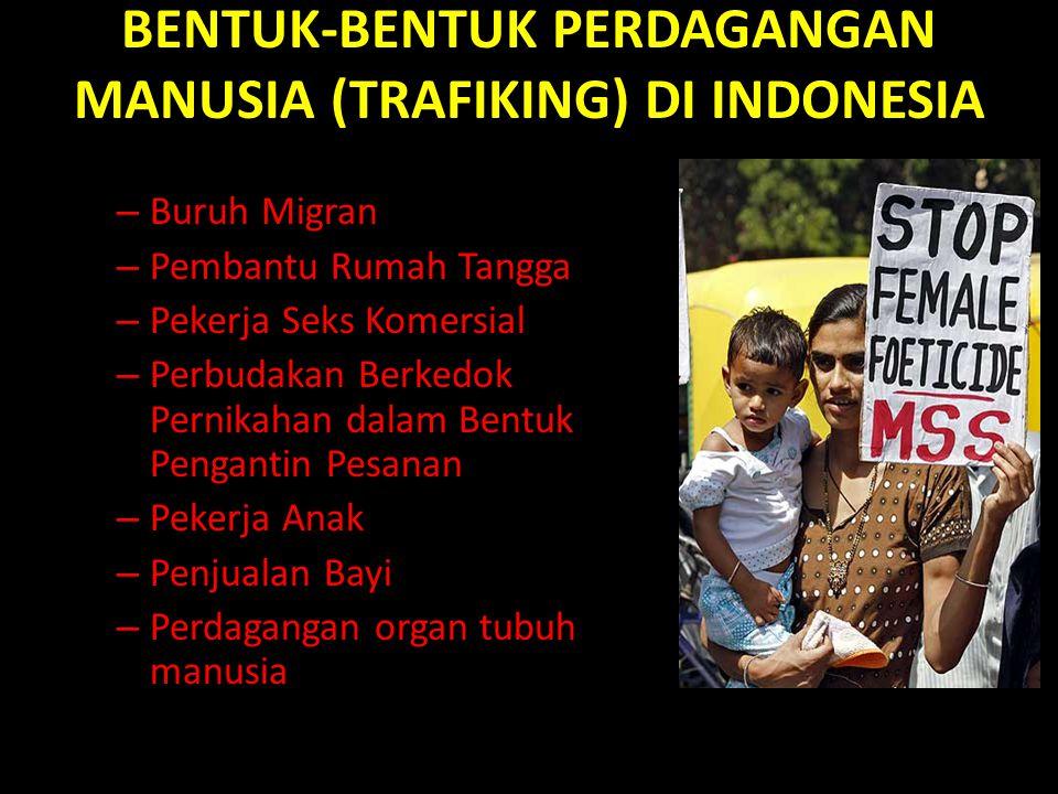 BENTUK-BENTUK PERDAGANGAN MANUSIA (TRAFIKING) DI INDONESIA