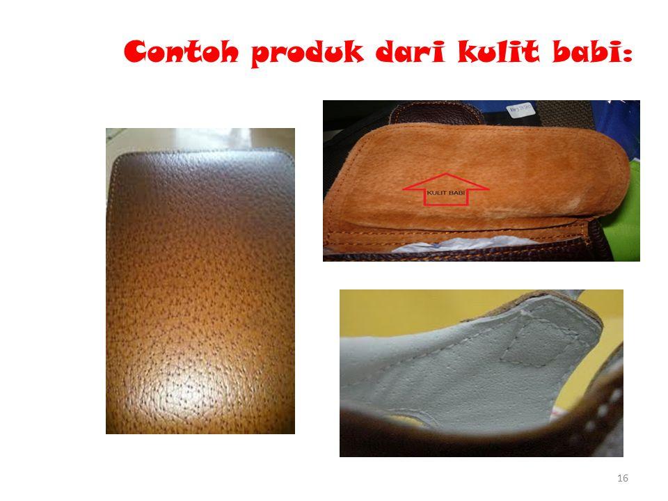 Contoh produk dari kulit babi: