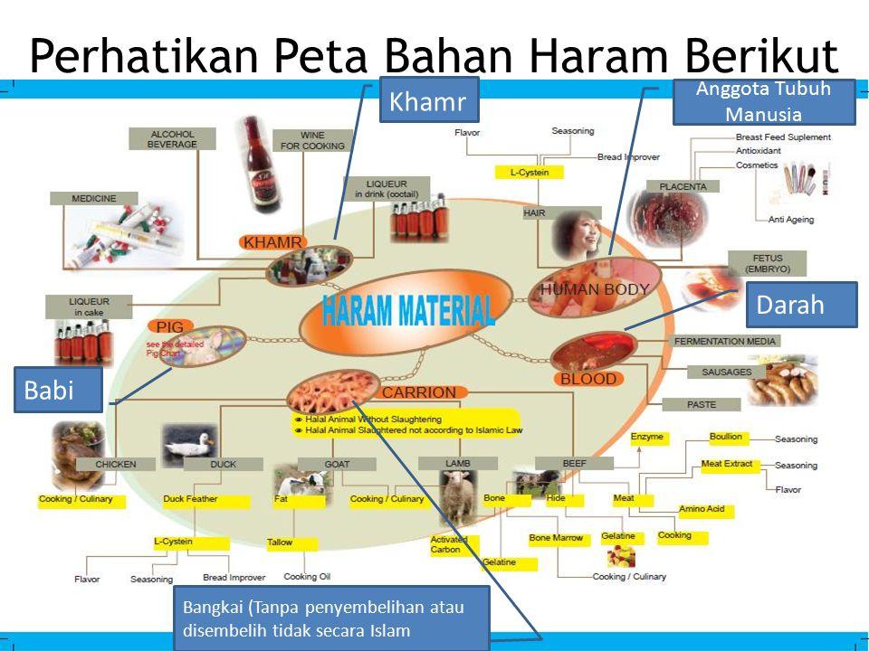 Perhatikan Peta Bahan Haram Berikut