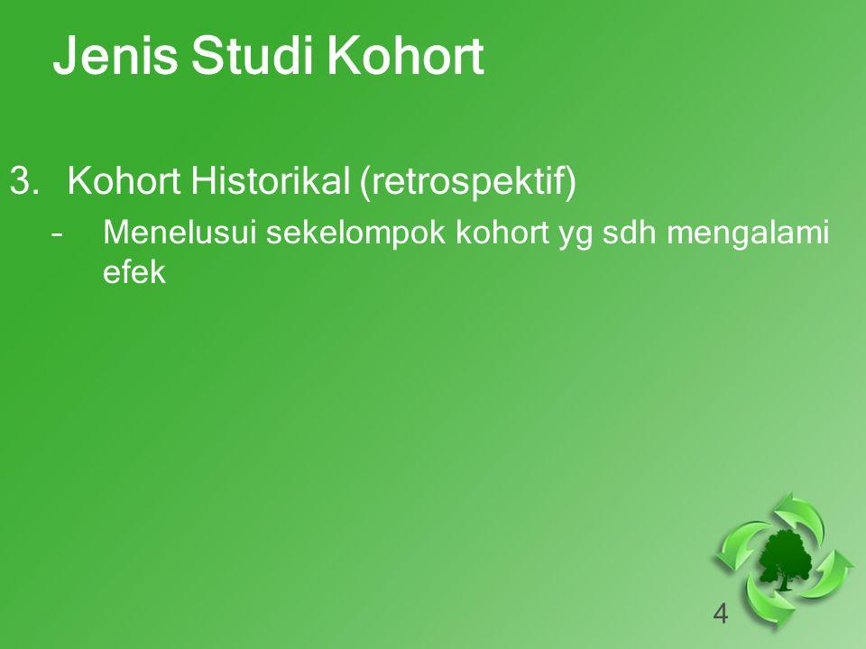 Jenis Studi Kohort Kohort Historikal (retrospektif)