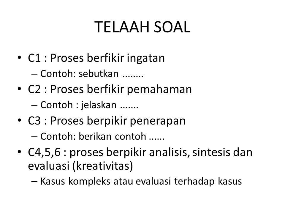 TELAAH SOAL C1 : Proses berfikir ingatan