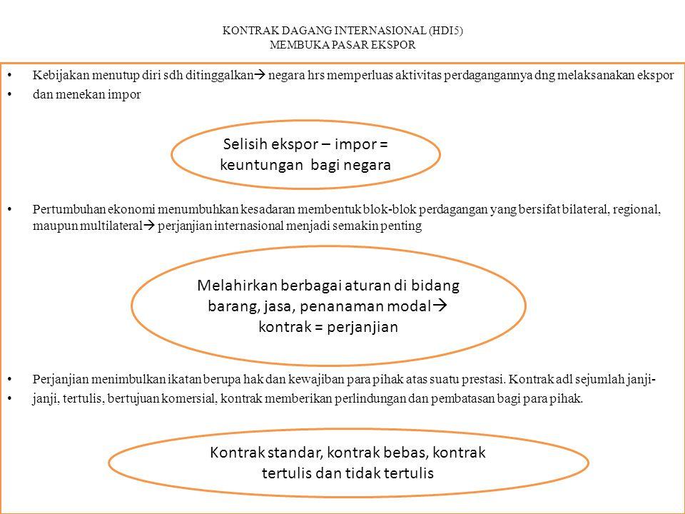 KONTRAK DAGANG INTERNASIONAL (HDI5) MEMBUKA PASAR EKSPOR