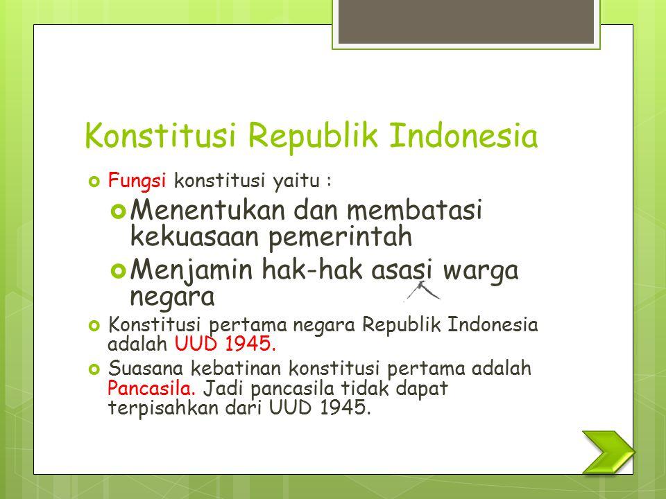 Konstitusi Republik Indonesia