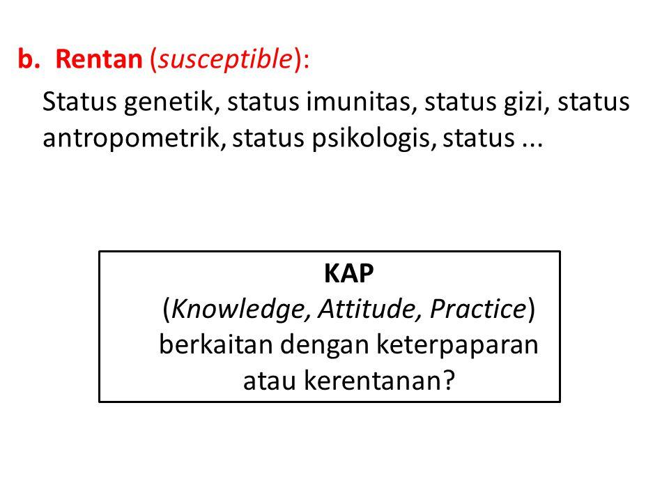 Rentan (susceptible):