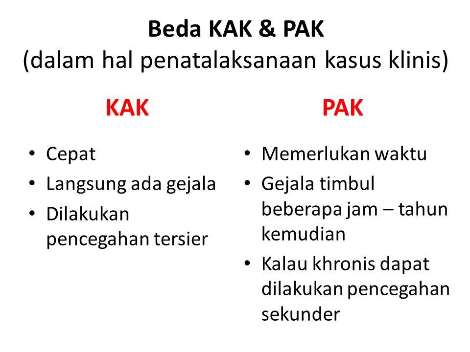 Beda KAK & PAK (dalam hal penatalaksanaan kasus klinis)