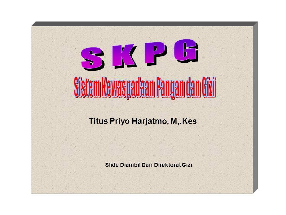 Titus Priyo Harjatmo, M,.Kes Slide Diambil Dari Direktorat Gizi