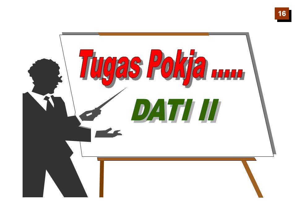 16 Tugas Pokja ..... DATI II
