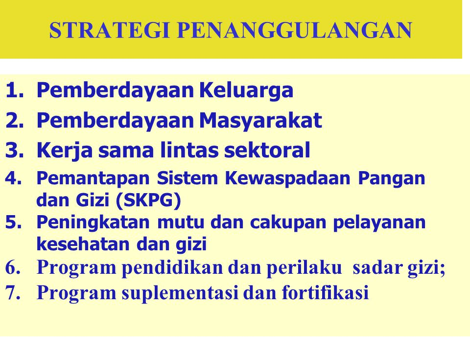 STRATEGI PENANGGULANGAN