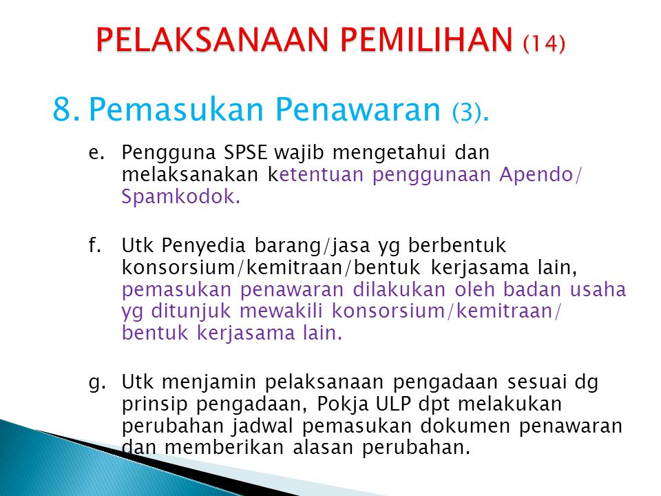 PELAKSANAAN PEMILIHAN (14)