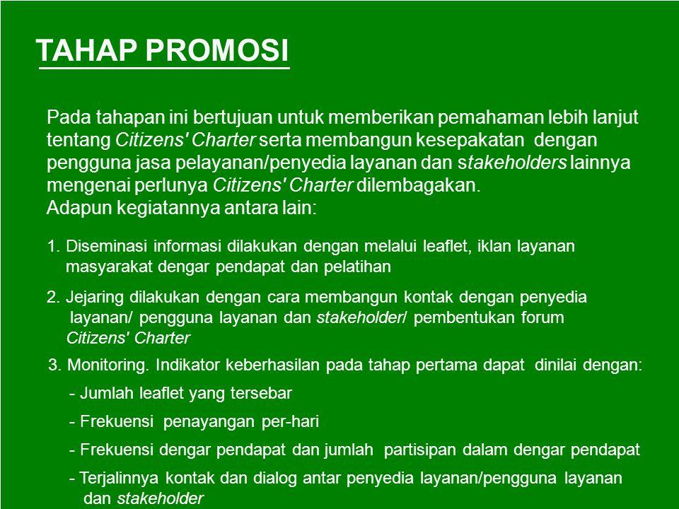 TAHAP PROMOSI