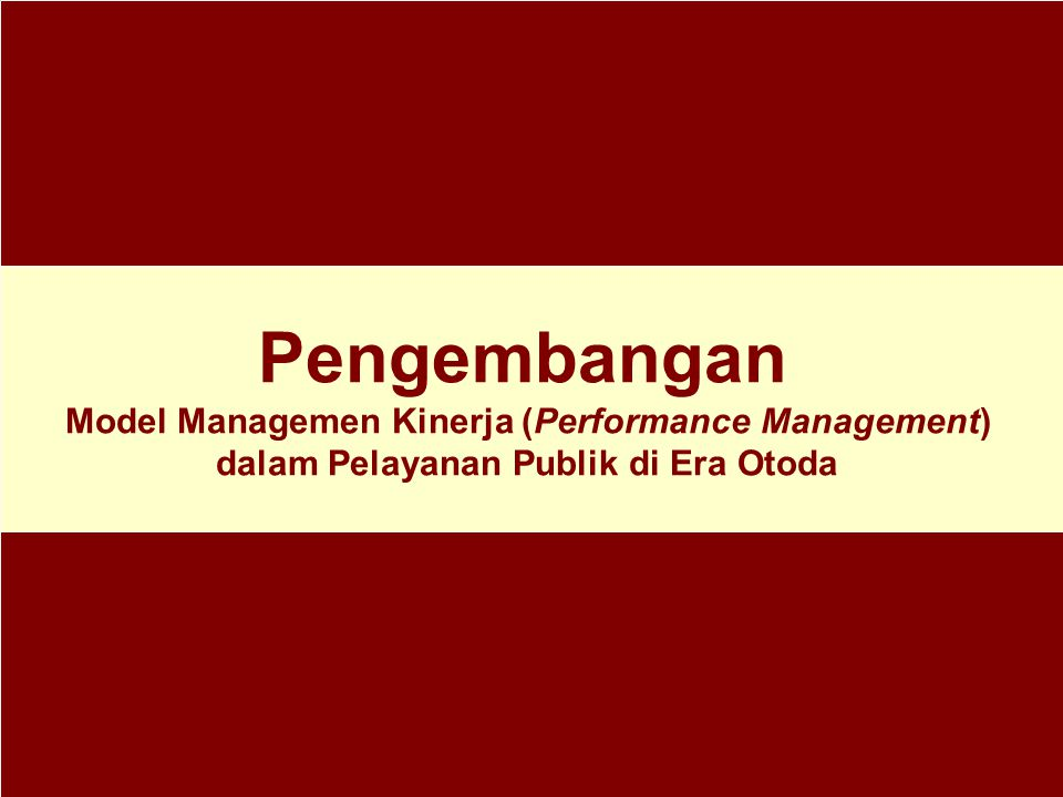 Model Managemen Kinerja (Performance Management)
