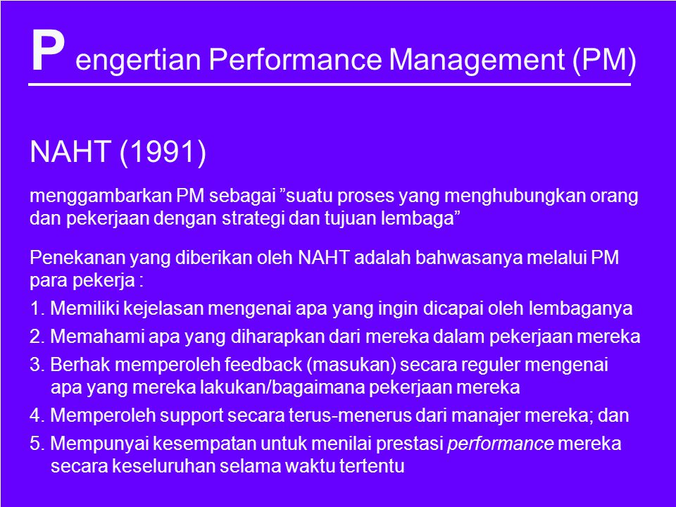 P engertian Performance Management (PM)