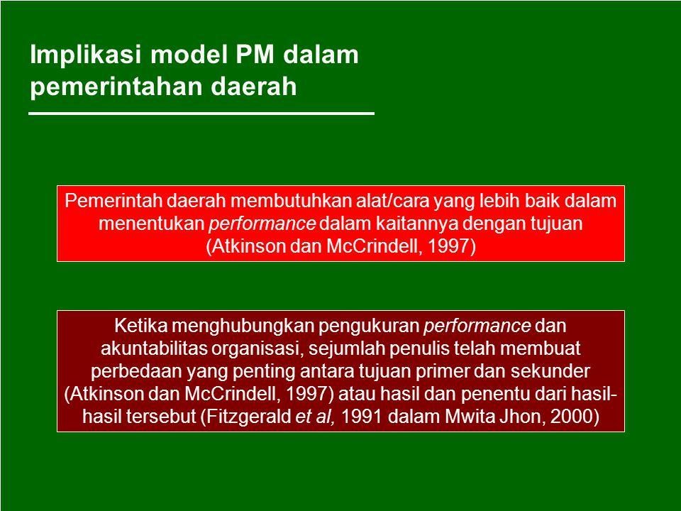 Implikasi model PM dalam pemerintahan daerah