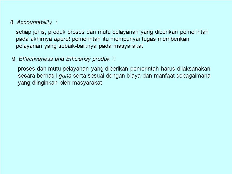 8. Accountability :