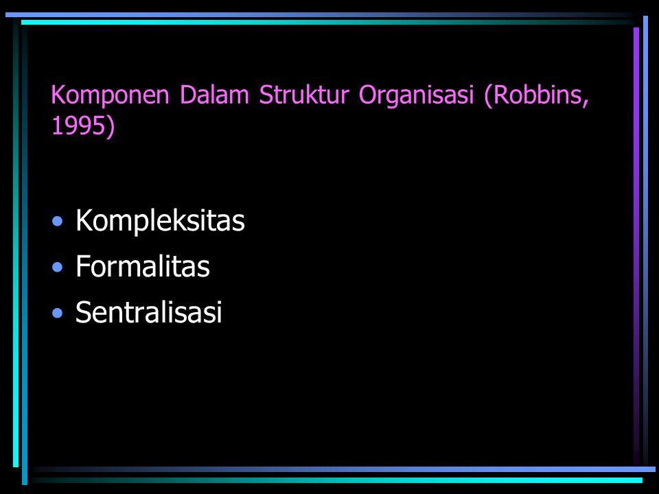 Komponen Dalam Struktur Organisasi (Robbins, 1995)