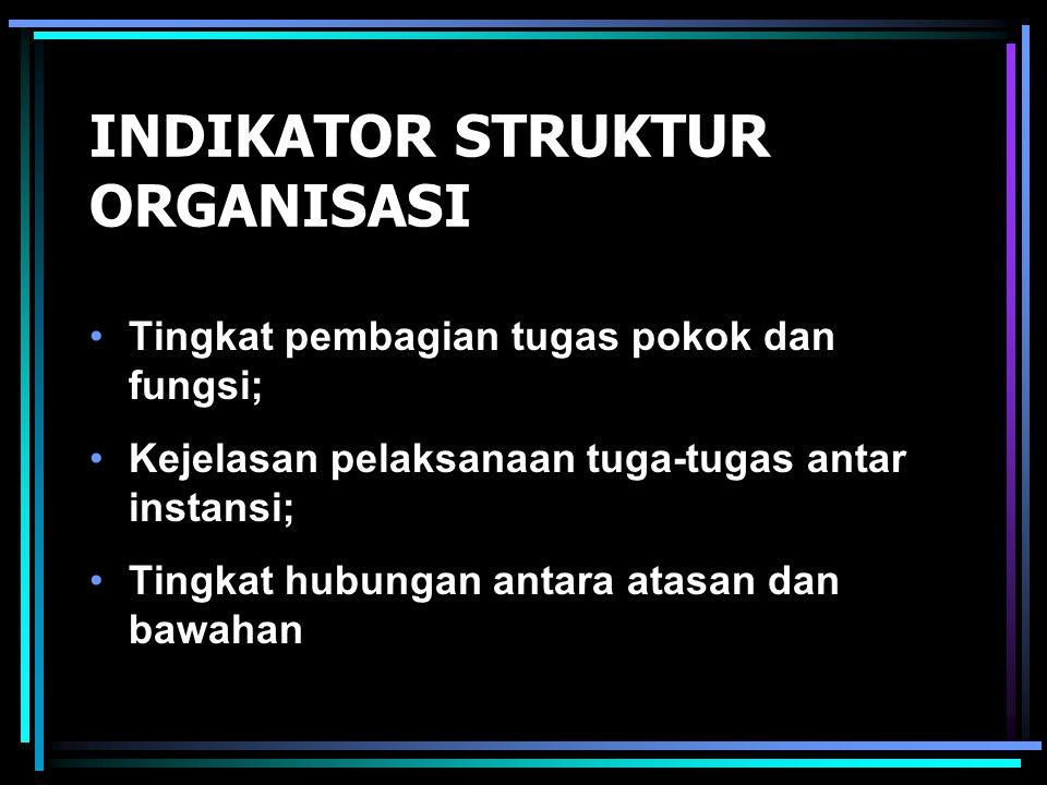 INDIKATOR STRUKTUR ORGANISASI