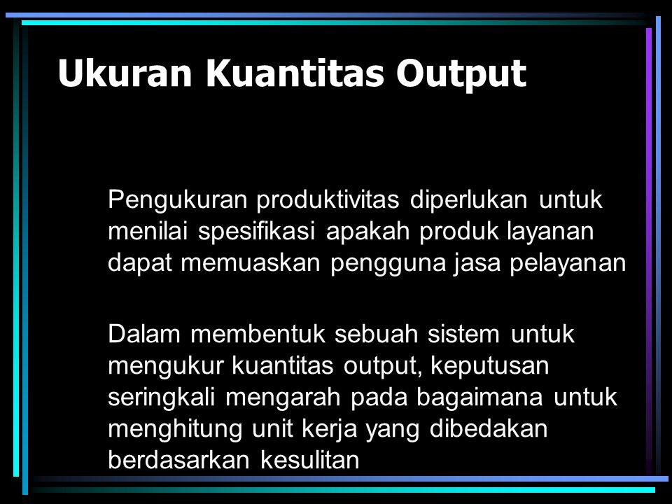 Ukuran Kuantitas Output