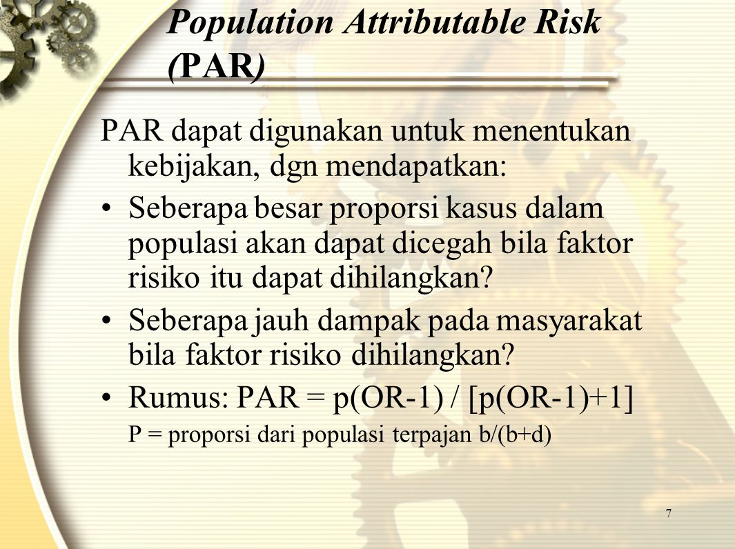 Population Attributable Risk (PAR)