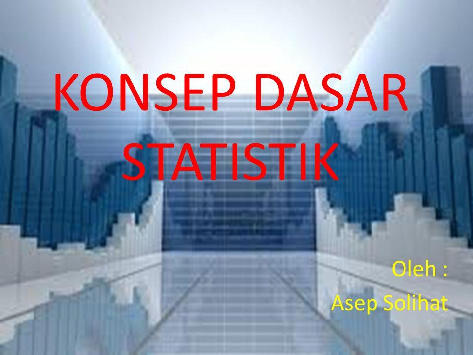KONSEP DASAR STATISTIK
