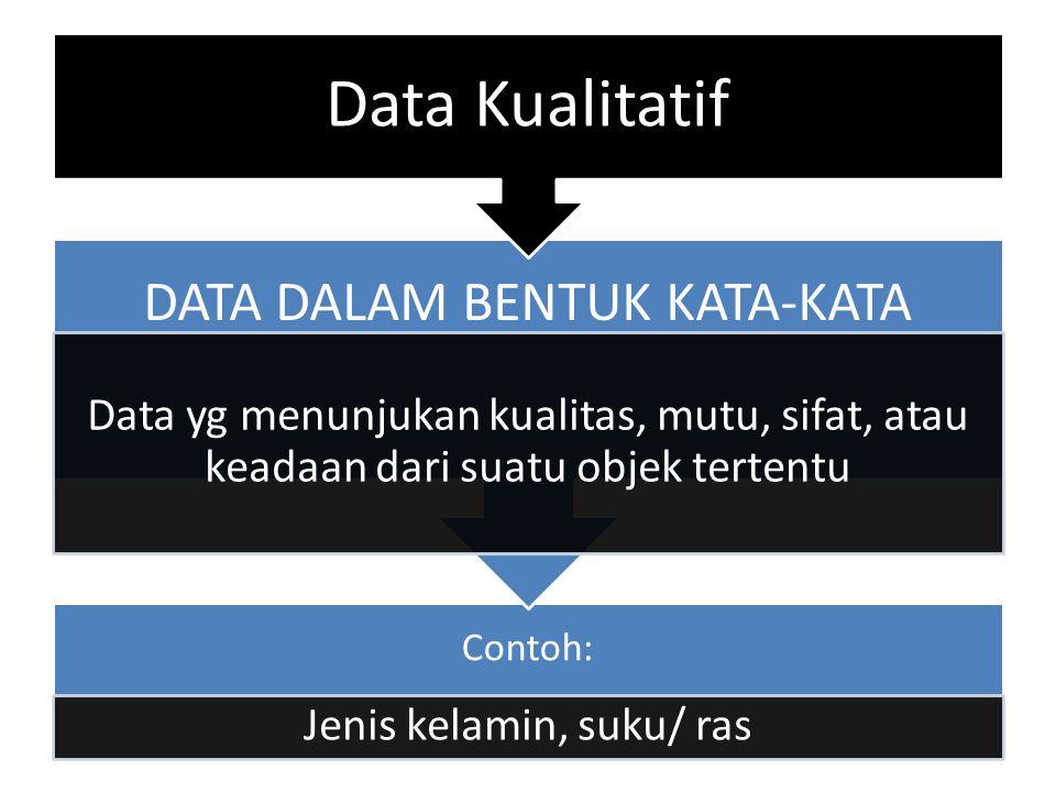 Data Kualitatif Contoh: DATA DALAM BENTUK KATA-KATA