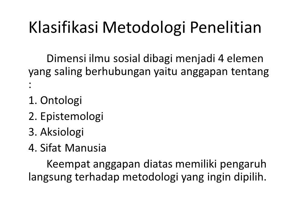 Klasifikasi Metodologi Penelitian