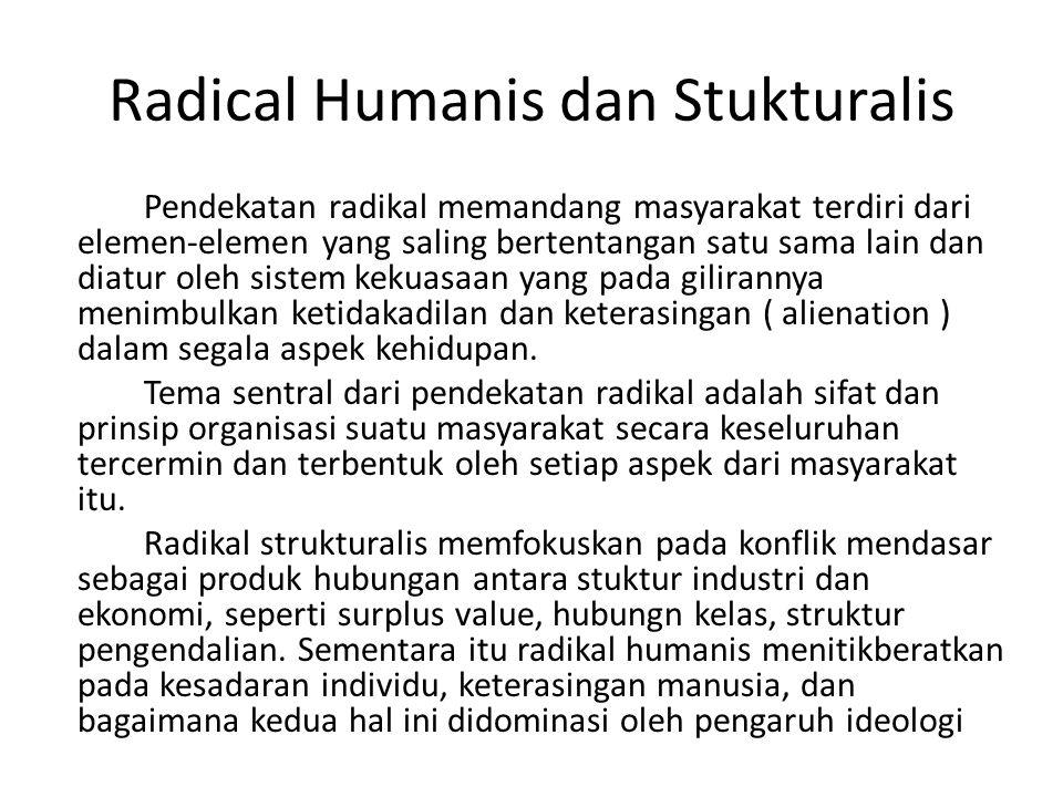 Radical Humanis dan Stukturalis
