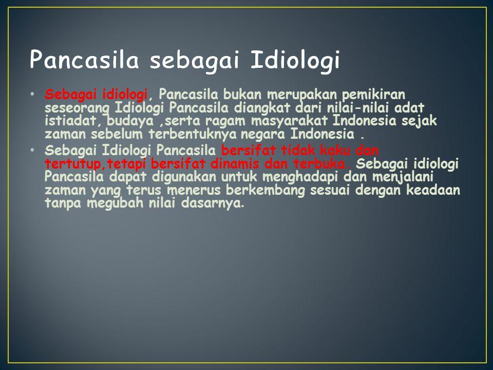 Pancasila sebagai Idiologi