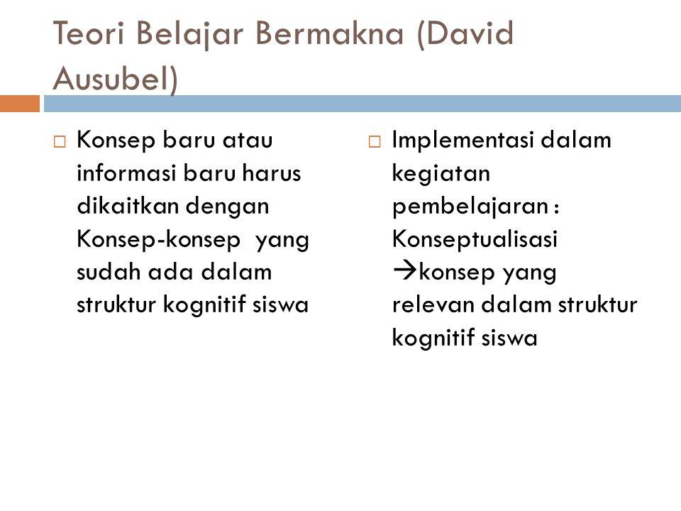 Teori Belajar Bermakna (David Ausubel)