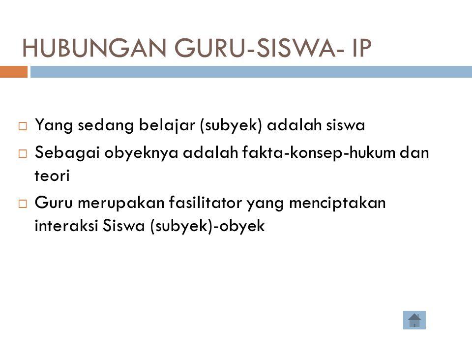 HUBUNGAN GURU-SISWA- IP